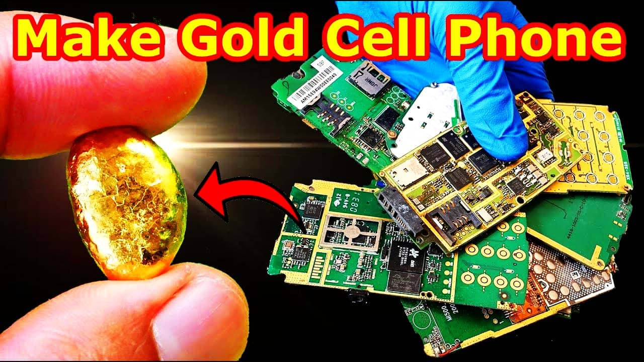 gold in mobile phone