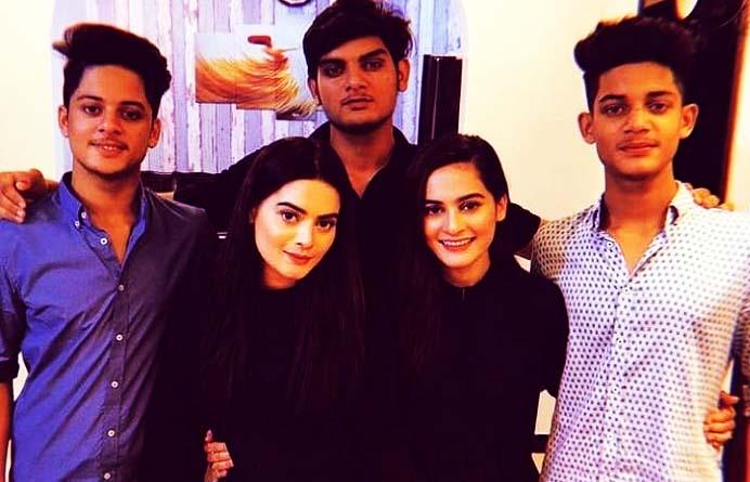 Minal Khan Family